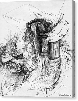 Fantasy Drawing 3 Canvas Print by Svetlana Novikova