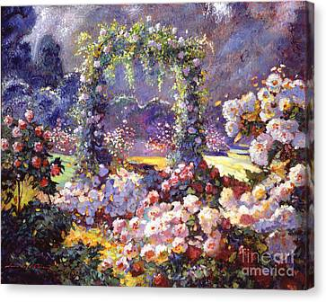 Fantasy Garden Delights Canvas Print by David Lloyd Glover