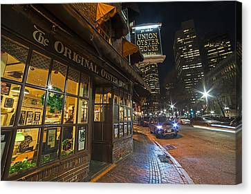 Fanueil Hall Union Oyster House Boston Ma Canvas Print by Toby McGuire
