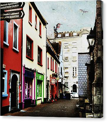 Far Away In Galway Canvas Print by Leonid Rozenberg