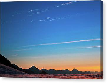 Far Mountains Canvas Print by Konstantin Dikovsky