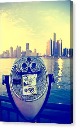 Faraway Detroit Canvas Print by Andreas Freund