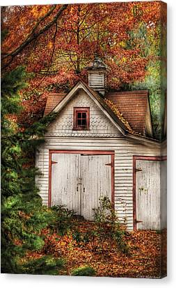 Farm - Barn - Our Old Shed Canvas Print by Mike Savad