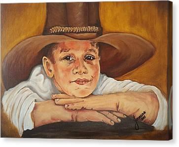 Farm Boy Canvas Print by Jeneane Wilson
