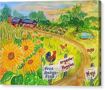 Farm Fresh  Canvas Print by Ellen Levinson