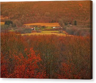 Farm From The Appalachian Trail 2 Canvas Print by Raymond Salani III