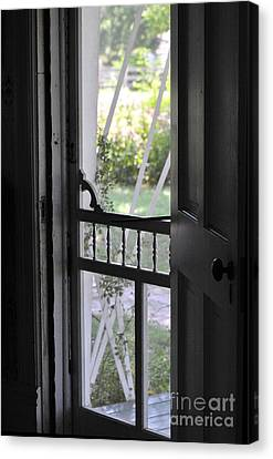 Farm House Screen Door Canvas Print by Wilma  Birdwell