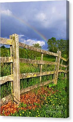 Farm Rainbow Canvas Print by Thomas R Fletcher