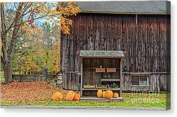 Farm Stand Etna New Hampshire Canvas Print by Edward Fielding