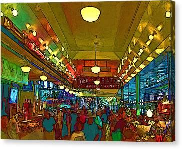 Farmers Market Canvas Print by Dale Stillman