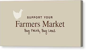 Farmers Market Canvas Print by Nancy Ingersoll