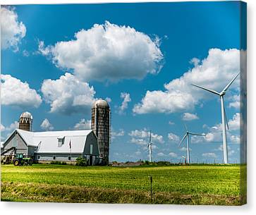 Farming Usa Canvas Print by Carlos Ruiz