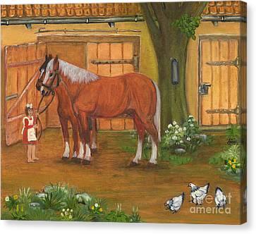 Farmyard Canvas Print by Anna Folkartanna Maciejewska-Dyba