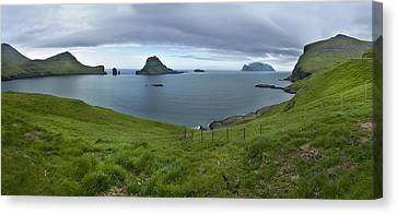 Faroes Panorama Canvas Print by Robert Lacy
