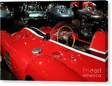 Farrari View Canvas Print by Wingsdomain TransportationArt