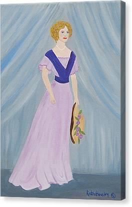 Fashion Lady Canvas Print by Ruth  Housley