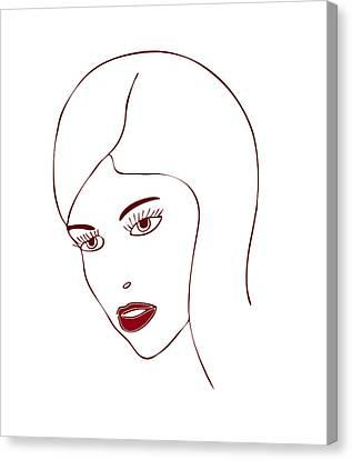 Fashion Model Canvas Print by Frank Tschakert