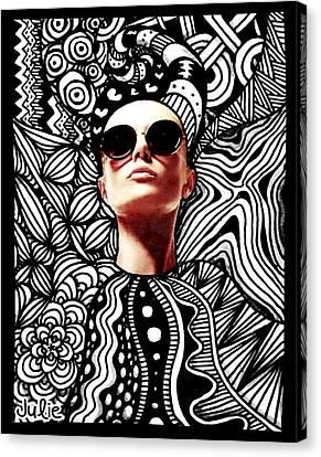 Fashion Tangle Canvas Print by Julie Erin Designs