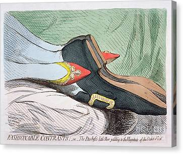 Fashionable Contrasts Canvas Print by James Gillray