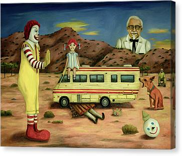 Fast Food Nightmare 5 The Mirage Canvas Print by Leah Saulnier The Painting Maniac