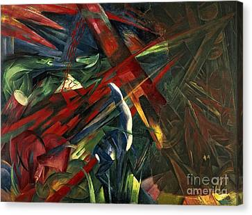 Fate Of The Animals Canvas Print by Franz Marc