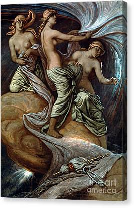 Fates Gathering In Stars Canvas Print by Granger