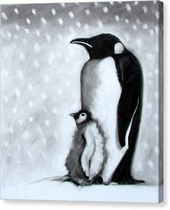 Father And Son Canvas Print by Paul Powis