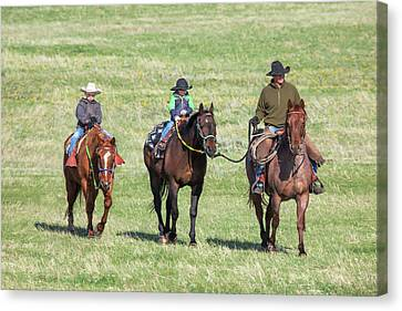 Father And Sons Canvas Print by Todd Klassy
