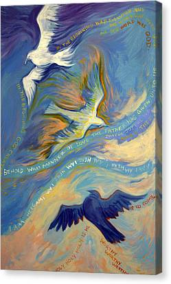 Father Son And Holy Spirit Canvas Print by Jill Iversen