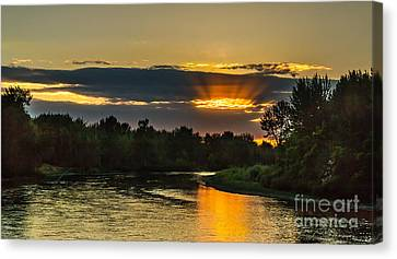 Father's Day Sunset Canvas Print by Robert Bales