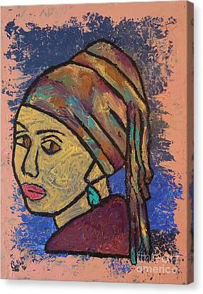 Fauve Girl Canvas Print by Misty Rosas