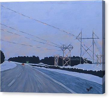 February Dawn Canvas Print by Laurie Breton