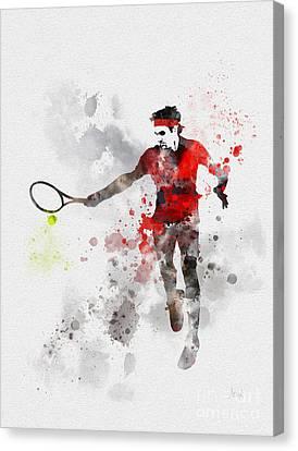 Federer Canvas Print by Rebecca Jenkins