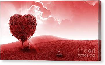 Feel The Love Canvas Print by Amy Wilkinson