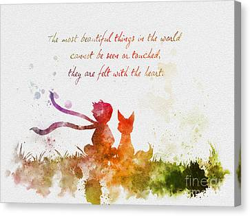 Felt With The Heart Canvas Print by Rebecca Jenkins