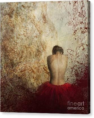 Female Back Canvas Print by Jelena Jovanovic