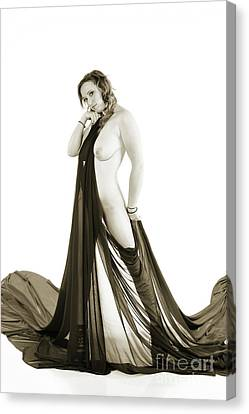 Female Nude Model 5513 Photograph 5513.009 Canvas Print by Kendree Miller