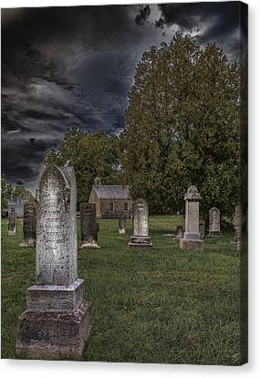 Femme Osage Cemetery Canvas Print by Bill Tiepelman