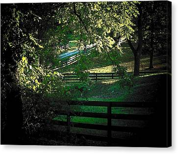 Fences On The Farm Canvas Print by Joyce Kimble Smith