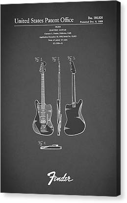 Fender Electric Guitar 1959 Canvas Print by Mark Rogan