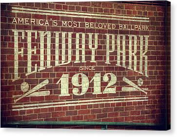Fenway Park 1912 - Boston Red Sox Canvas Print by Joann Vitali