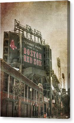 Fenway Park Billboard - Boston Red Sox Canvas Print by Joann Vitali