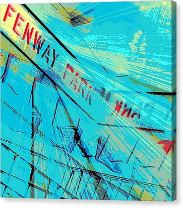 Fenway Park V1 Canvas Print by Brandi Fitzgerald