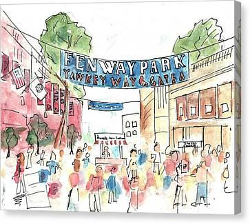 Fenway Park Canvas Print by Matt Gaudian