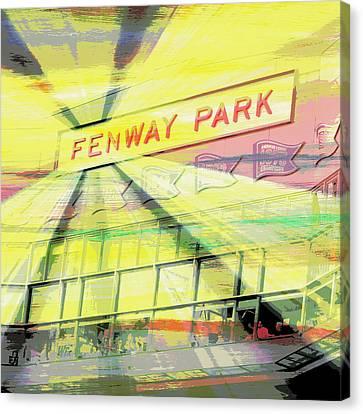 Fenway Park V2 Canvas Print by Brandi Fitzgerald