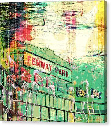 Fenway Park V3 Canvas Print by Brandi Fitzgerald