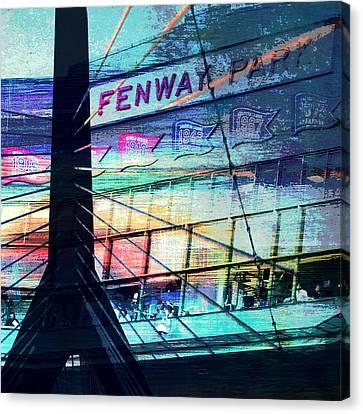 Fenway Park V4 Canvas Print by Brandi Fitzgerald