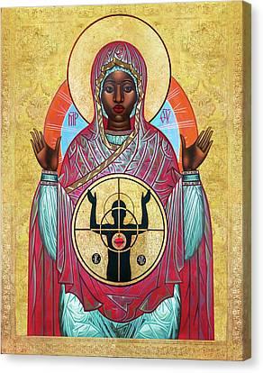 Ferguson Mother Of God. Canvas Print by Mark Dukes