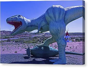 Ferious Dinosaur Trex Canvas Print by Garry Gay