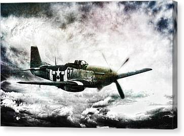 Ferocious Textured Canvas Print by Peter Chilelli